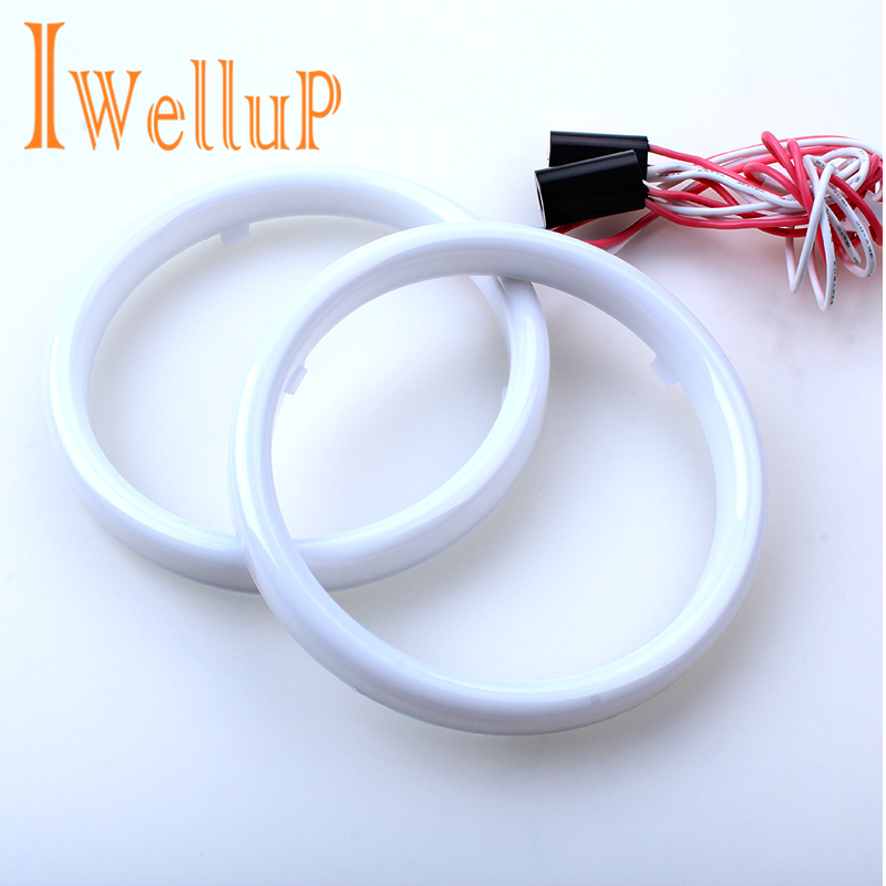 2 Pcs Car Angel Eyes  Auto Halo Rings COB 60mm 70mm 80mm 90mm100mm 110mm 120mm  Angel Eye Car Headlight Motorcycle White 12V Led