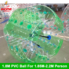 цена на 1.8M  TPU  Inflatable Bubble Soccer Football Ball for adults,Zorb Ball, inflatable human hamster ball, Bumper Ball for man