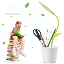 цена на New 2W USB charging LED Desk Lamp;Dimmable Touch Sensitive led Table Night Light with Pen Holder DC5V/1200mAh For reading book