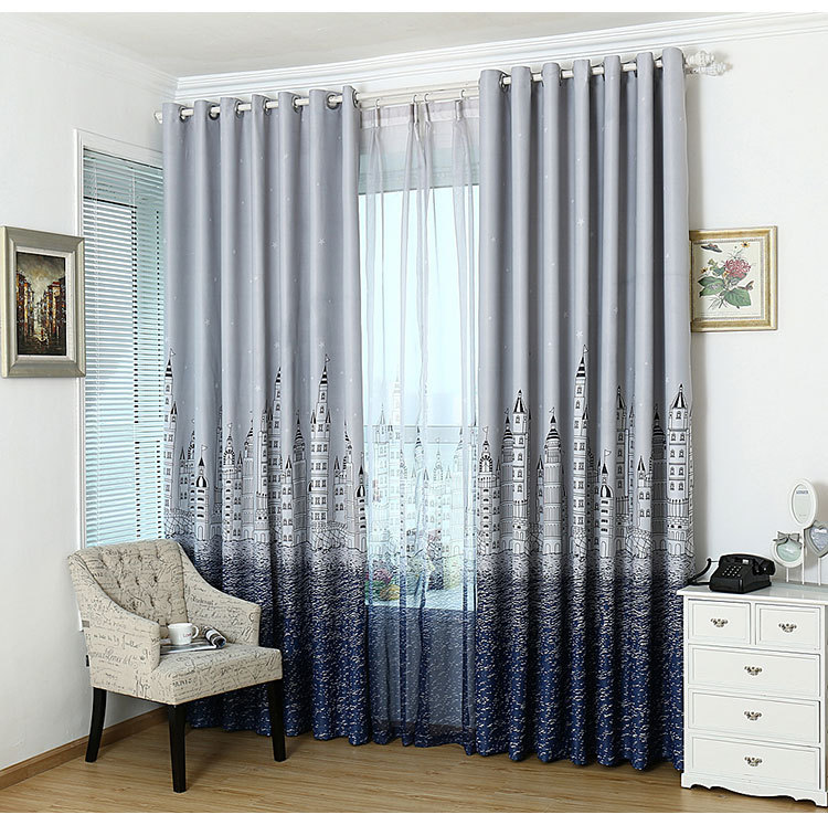 Printed and Thick Curtains for Living Dining Room Bedroom Cloth Children Boy Girl Curtains