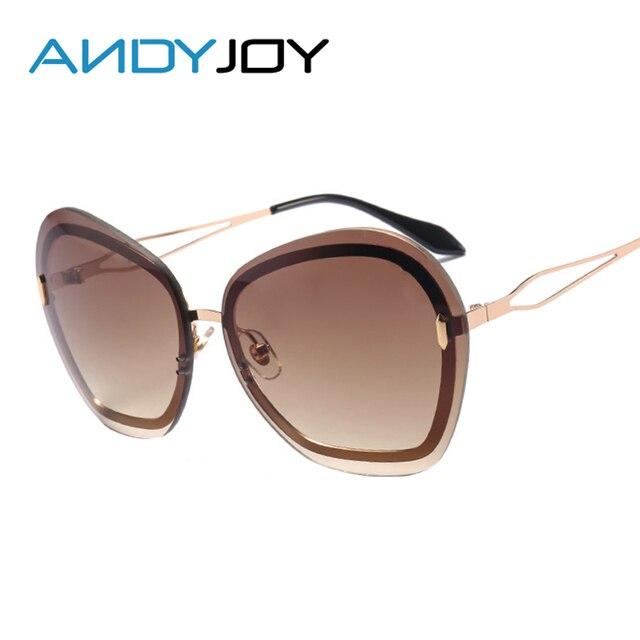 ANDYJOY Mode Femmes Nouvelle Lentille De Couleur Lunettes De Soleil Sans  Cadre Miroir Rond lunettes de 5a229f62379d