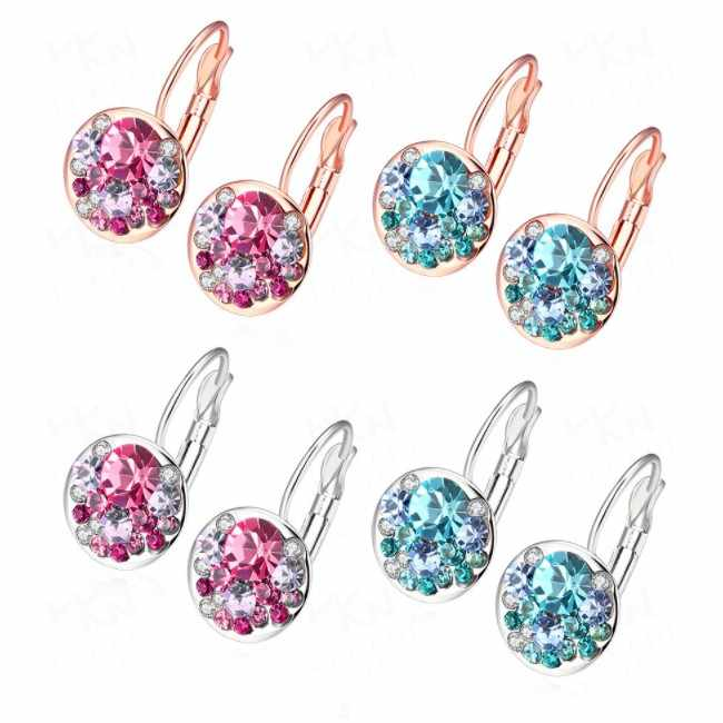2019 New Colorful Crystal Earrings For Women Crystal from Swarovskis Fashion Stud Earrings wedding Jewelry Gifts