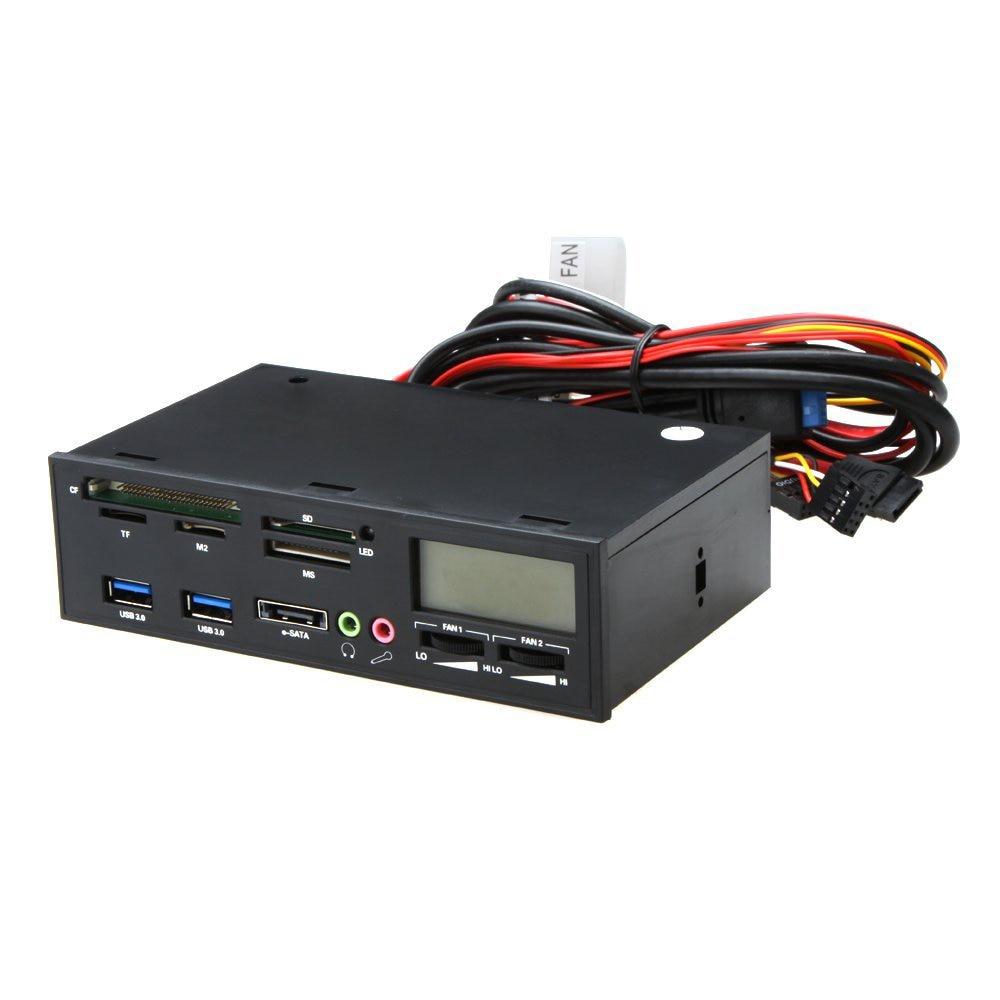 5.25 USB 3.0 e-SATA All-in-1 PC Media Dashboard Multi-function Front Panel Card Reader I/O Ports promotion 5 25 usb 3 0 e sata all in 1 pc media dashboard multi function front panel card reader i o ports