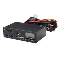 5 25 USB 3 0 E SATA All In 1 PC Media Dashboard Multi Function Front