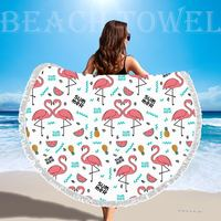 Round Shape Beach Towel Superfine Fibers Beach Towel Factory Wholesale