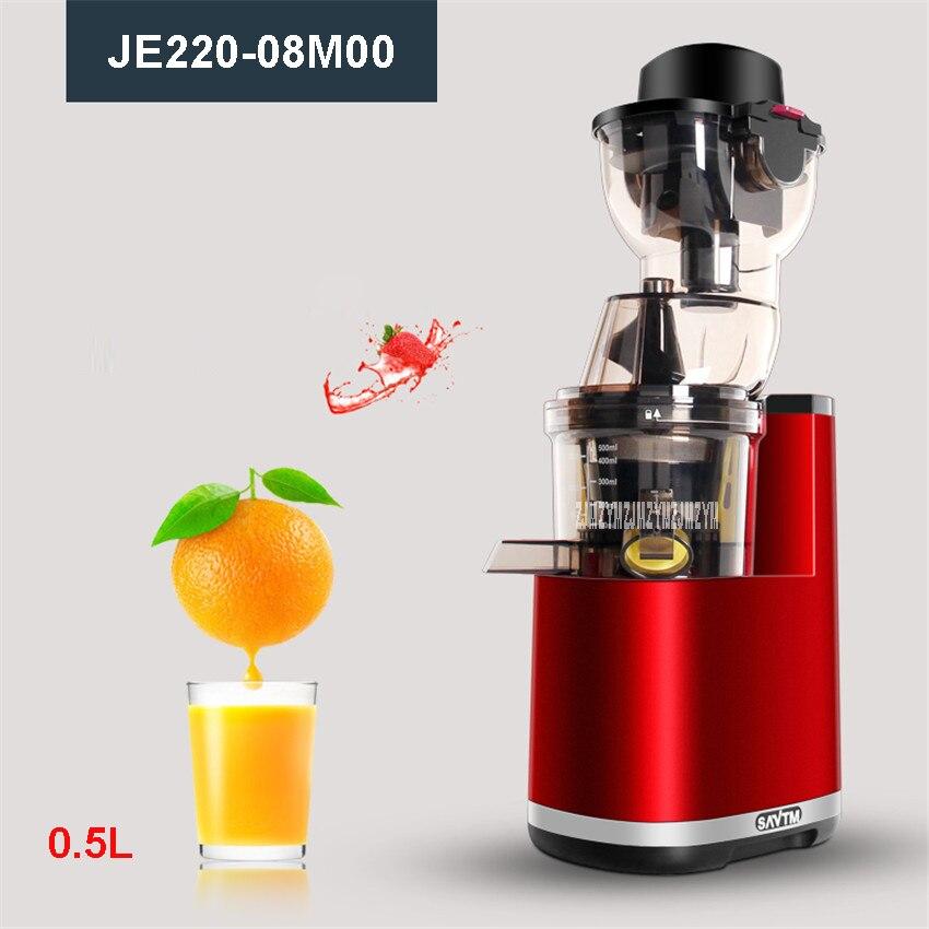 JE220-08M00 220V/50 Hz Home/Commercial Fruit Electric Whole Slow Juicer Machine 0.5L with Germany AC Motor 37r / min orange /red 200v 200w slow juicer red
