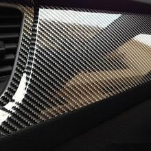 10x152 см 5D глянцевая виниловая пленка из углеродного волокна для стайлинга автомобилей, аксессуары для стайлинга автомобилей и мотоциклов, внутренняя пленка из углеродного волокна
