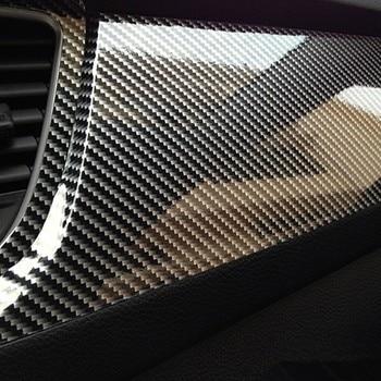 10x152cm 5D High Glossy Carbon Fiber Vinyl Film Car Styling Wrap Motorcycle Car Styling Accessories Interior Carbon Fiber Film