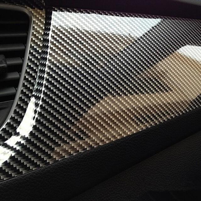 Glossy Carbon Fiber Vinyl Film Car Styling