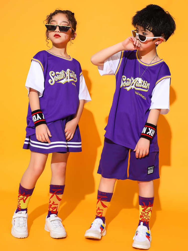 Детский костюм для мальчиков, уличный танцевальный комплект для девочек, костюм Болельщицы для джазовых танцев, костюм Болельщицы в стиле хип-хоп, 2020