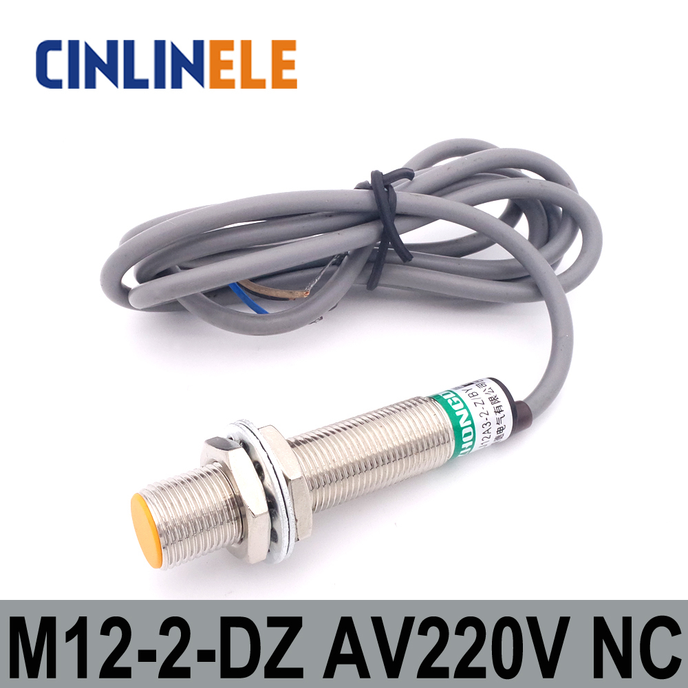 M12 LJ12A3-2-J/DZ 2mm induction AC 2 WIRE NC metal sensor inductive proximity switch Screen shield type LJ8A3 sensor switch