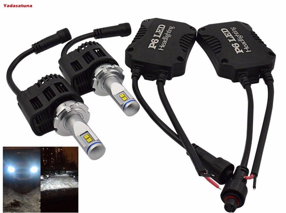 Paire 110 W 10, 400LM D1/D1R/D2/D2/D2R/D3S/D4R/D4S feux de route/feux de croisement LED Kit de Conversion d'ampoules phares Auto Super lumineux 6000 K
