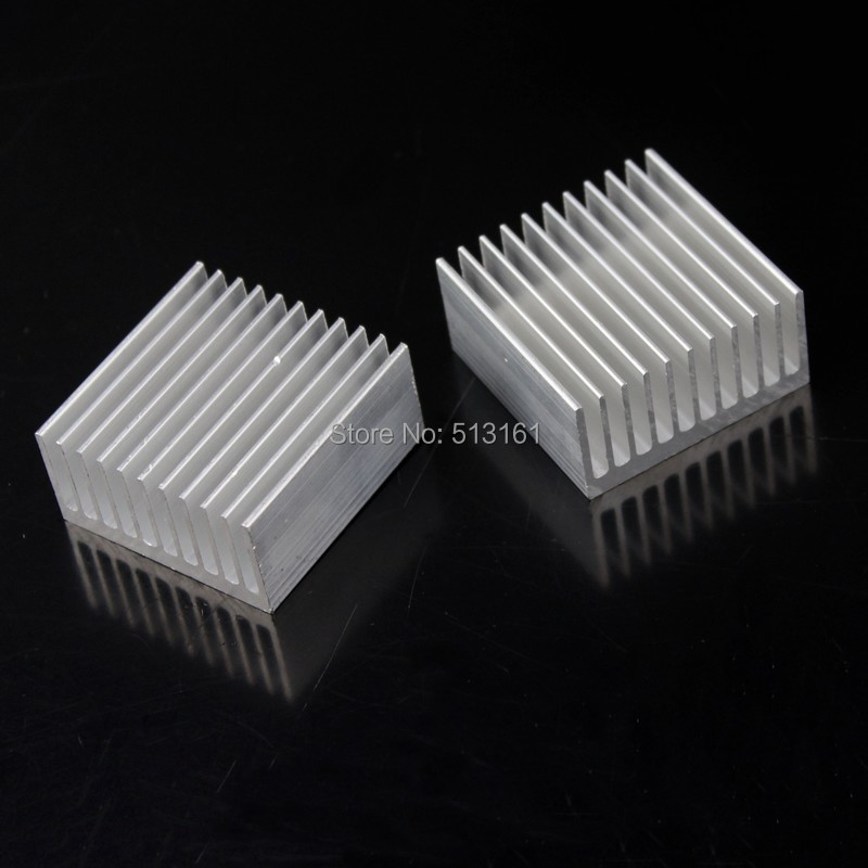 5 Pieces 40x40x20mm Aluminum HeatSink Heat Sink Radiator for Electronic Chip LED RAM Cooler Cooling 20pcs lot 22x22x10mm aluminum heatsink for chip cpu gpu vga ram ic led heat sink radiator cooler cooling