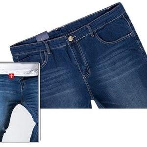 Image 5 - Erkek kot pantolon streç büyük boy büyük boy 6XL 7XL 8XL 9XL sonbahar klasik günlük kot ev 44 46 48 elastik