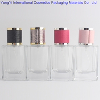 New Kind 1Pcs 40ml Clear Cap Clear Glass Spray Refillable Perfume Bottles Glass Automizer Empty Cosmetic