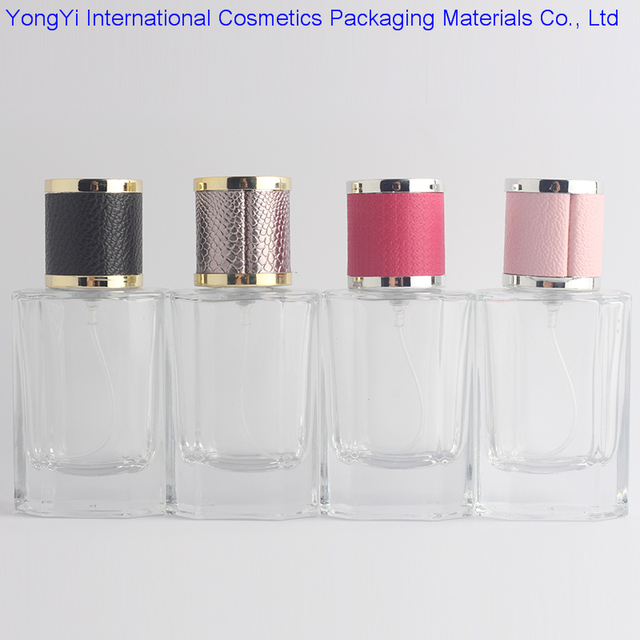 bd202ba7a641 US $172.52 |New Kind 50Pcs 40ml Clear Cap Clear Glass Spray Refillable  Perfume Bottles Glass Automizer Empty Cosmetic Container For Travel-in ...