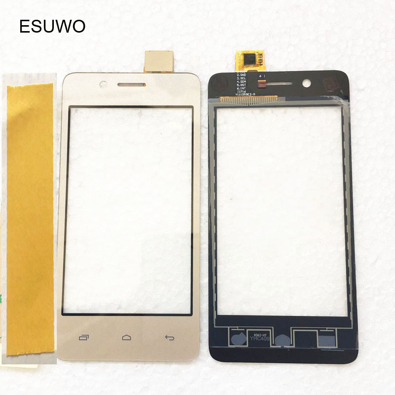 ESUWO Phone Front Glass <font><b>Touch</b></font> Screen Digitizer For <font><b>Micromax</b></font> Bolt <font><b>Q402</b></font> Sensor Touchscreen Panel Replacement Parts image