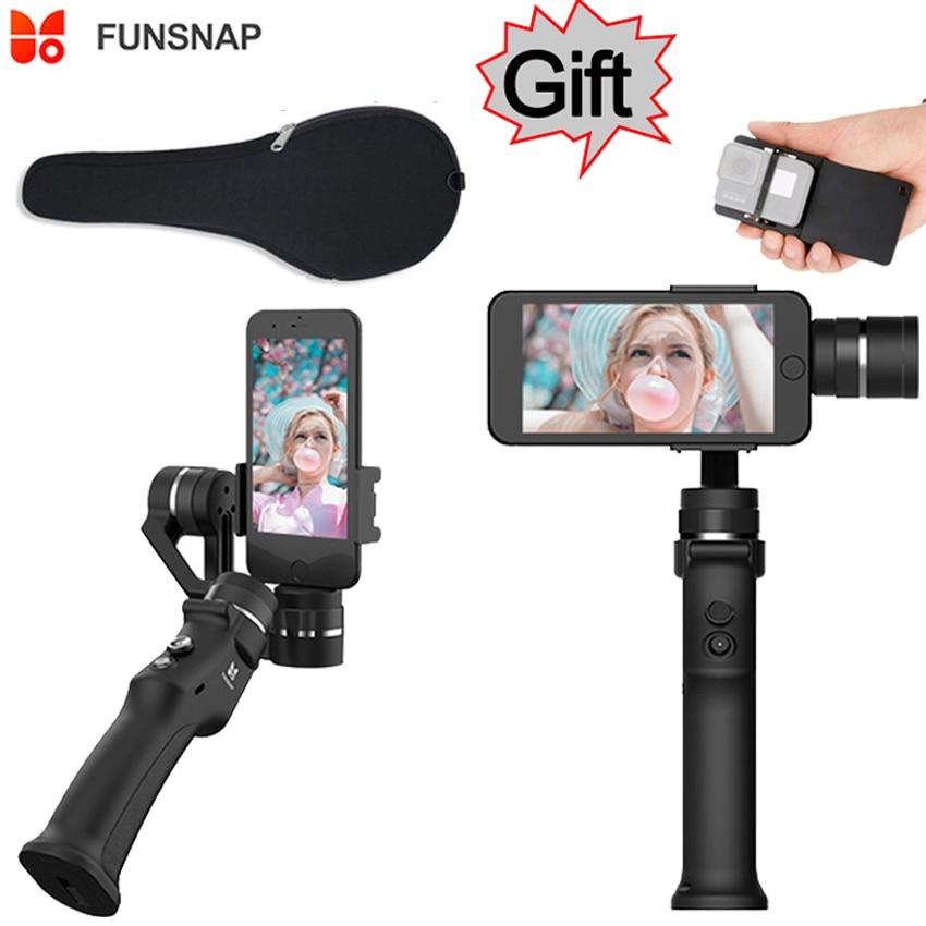 Funsnap Capture 3-axis Phone Handle estabilizador Gimbal steadicam para Smartphone iPhone X 8 VS Zhiyun Smooth 4 Feiyu Vimble 2