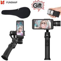 Funsnap Capture 3-axis Phone Handle Gimbal Stabilizer steadicam for Smartphone iPhone X 8 VS Zhiyun Smooth 4 Feiyu Vimble 2