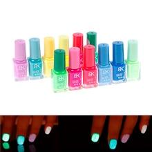 Bonbon Nail Art peinture lumineuse vernis à ongles néon vernis à ongles lumineux Fluorescent Gel à ongles lueur dans le noir