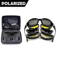 Neue Daisy C5 Polarisierte Armee Brille, Military Sonnenbrille 4 Objektiv Kit, männer Krieg Spiel Tactical Outdoor Sports Set von 9