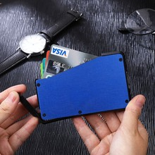 2019 Hot Sliding Fan Carbon Fiber Wallet Cash Card Holder Business Wallet Credit Card Protector Case Pocket Purse Fireproof(China)