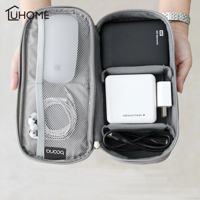 Digital Storage Bag Electronic Accessories Bag for Hard Drive Mouse Organizers for Earphone Cables USB Flash Drives Travel Case|Storage Bags| |  - title=