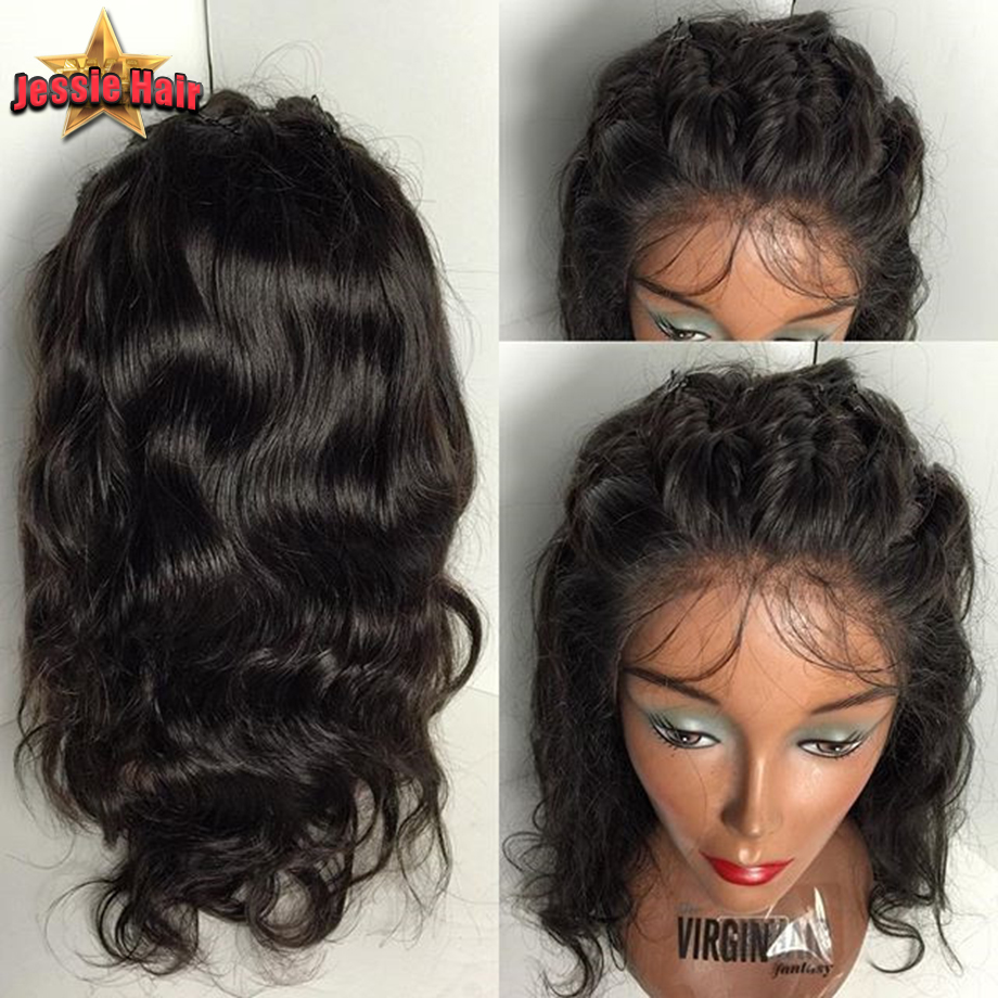 Brazilian Lace Front Wig Body Wave Human Hair Wigs Glueless Black Woman Full - Jessie Products store