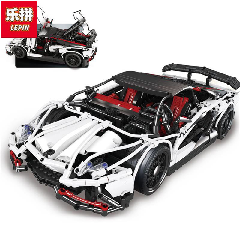In Stock DHL Lepin Sets 23006 2838Pcs Technic MOC Hatchback R Super Racing Car Model Building Kits Blocks Bricks Educational Toy