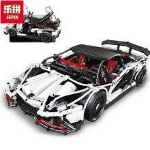 В наличии DHL Lepin Sets 23006 2838Pcs Technic MOC Hatchback R Super Racing Автомобильная модель Наборы комплектов Блоки Кирпичи Обучающая игрушка