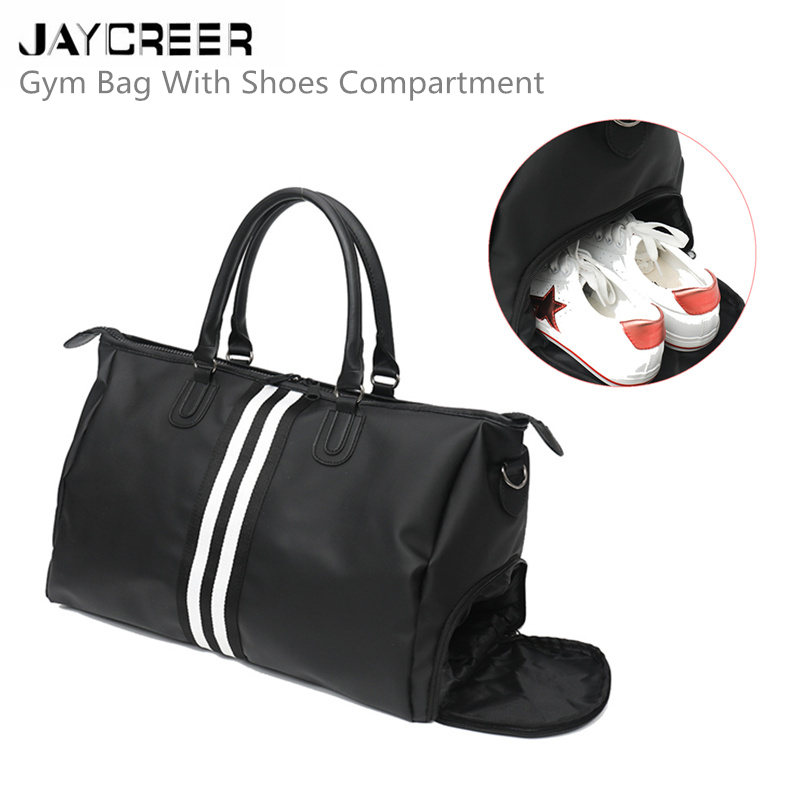 JayCreer Sports Gym Bag With Shoes Compartment Travel Duffel Bag For Men and Women