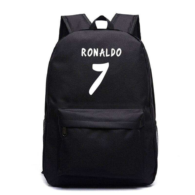 Beautiful Cristiano Ronaldo Backpack CR7 Rucksack Students School Bags Kids Boy Girl School Gift New Bags Fashion Backpack
