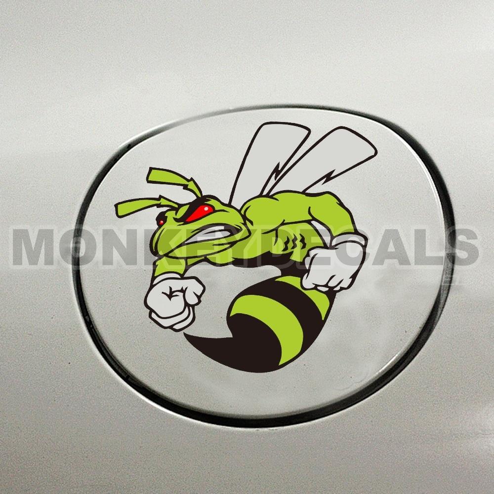 Купить с кэшбэком Vinyl multilayer decal car sticker angry bee M005 12cm x12cm reflective waterproof decal for cars motorcycle truck boat