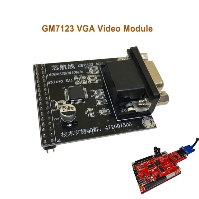 Módulo de vídeo vga gm7123, placa de desenvolvimento de fpga com câmera e código de envio coms