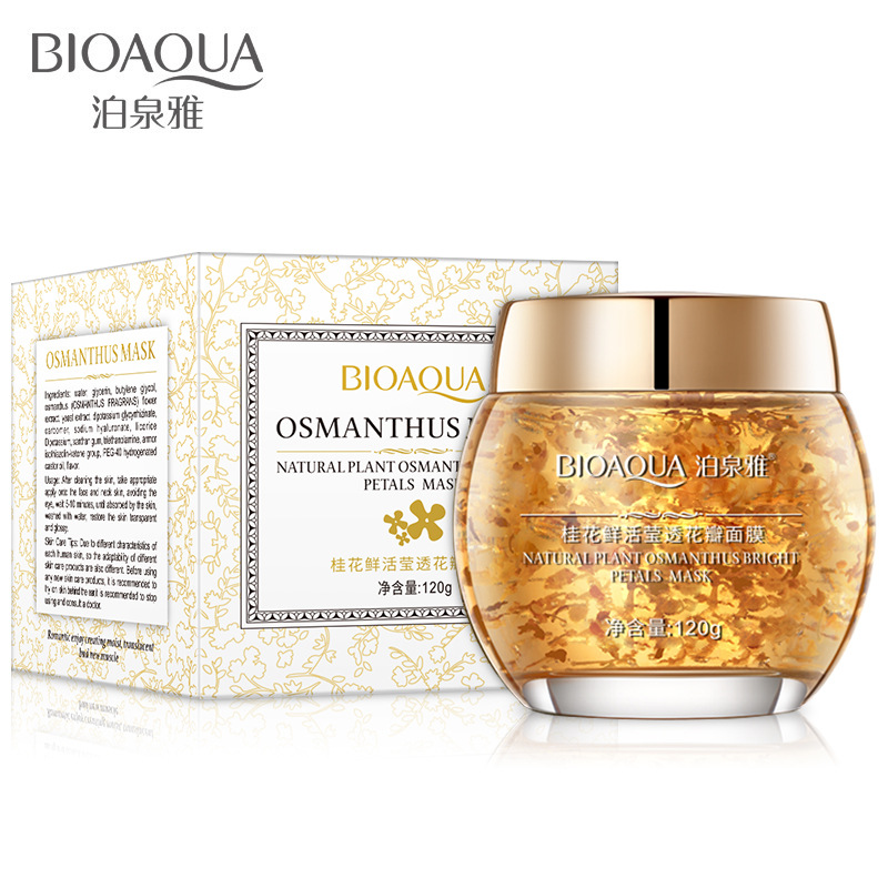 120g Osmanthus Sleeping Mask For Face Anti Wrinkle Anti Aging Osmanthus Face Reduce Freckles Acne And Spot Remover Face Mask