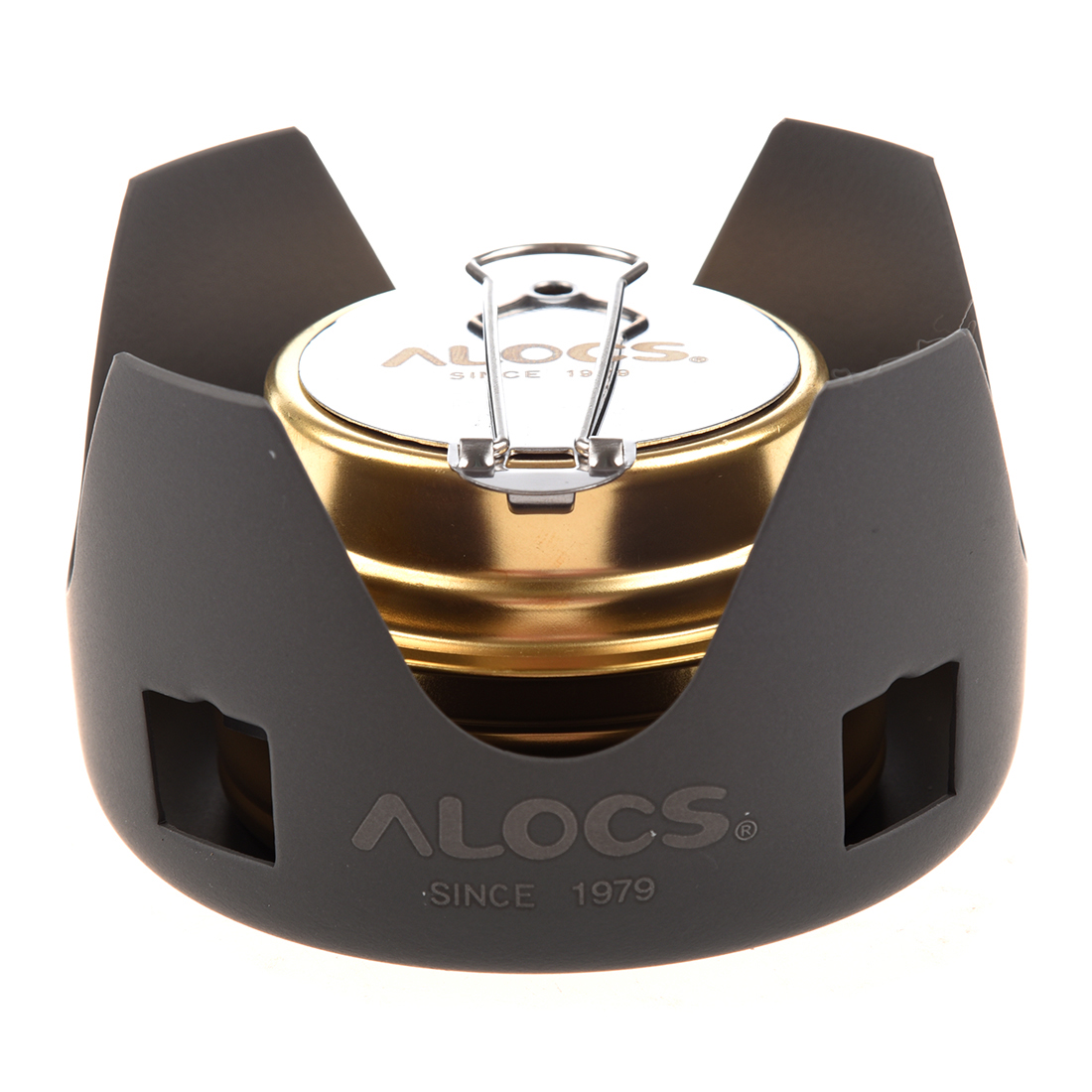 New Sale ALOCS Portable Mini Ultra-light Spirit Burner Alcohol Stove Outdoor Backpacking Hiking Camping Furnace with Stand