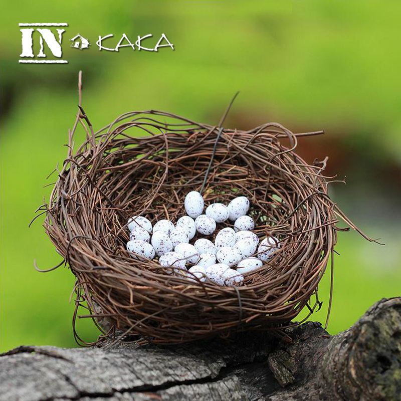 Zakka artificial birds nest simulation eggs model micro for Artificial birds for decoration