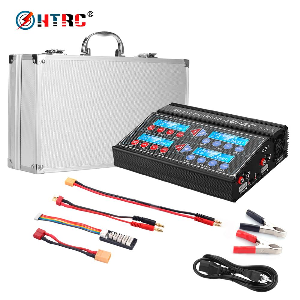 HTRC 4B6AC RC Charger Quattro 80W 6A Professional RC Balance Charger Discharger for Multi Chemistry Battery