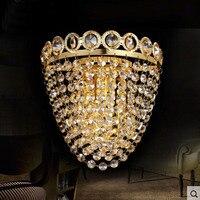 Creative זהב פמוטים קיר גביש אורות AC85-265V led מנורות קיר מודרני חדר שינה סלון מינימליסטי מעבר ליד המיטה