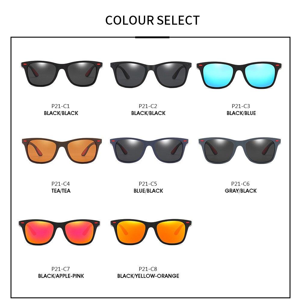 DJXFZLO Brand Design occhiali da sole polarizzati uomo donna Driver Shades uomo Vintage occhiali da sole uomo Spuare Mirror estate UV400OculoS 2