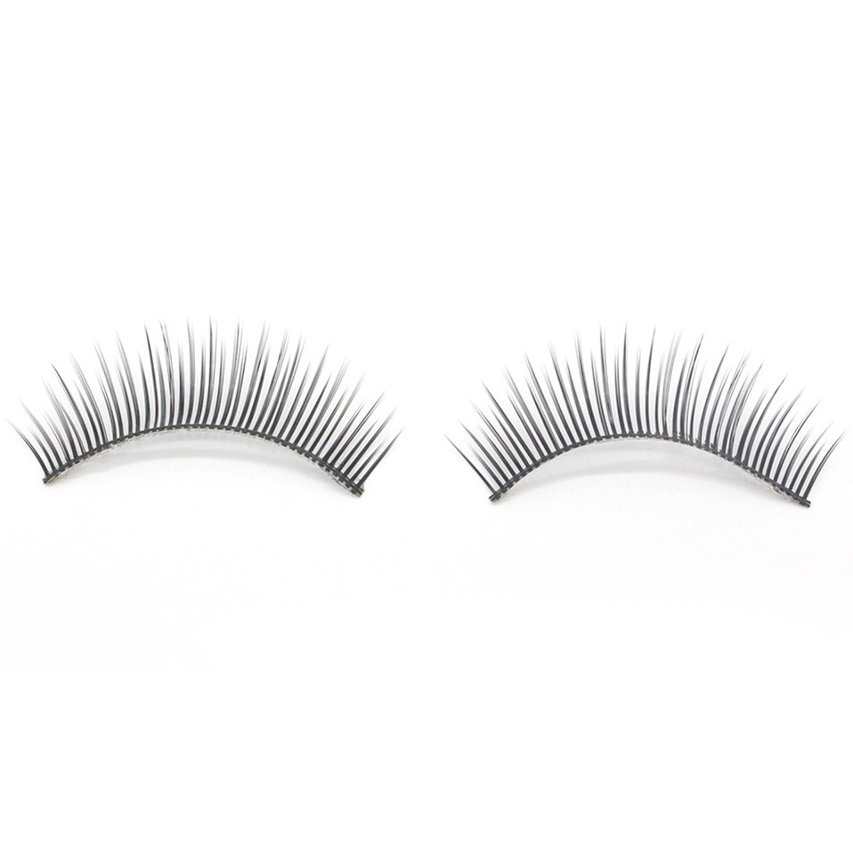 2017 1 Pairs Thick Long Cross Party False Eyelashes Black Band 3D Mink Eyelashes Fake Eye Lashes Extention Tools Pestanas falsas