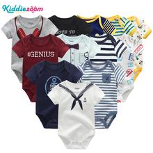 Noworodka zestawy ubrań dla niemowląt 100 bawełna letnie śpioszki dla niemowląt ubrania z krótkim rękawem body ubrania dla dzieci Ropa bebe Baby Boy odzież tanie tanio Dziecko Moda Suknem Unisex Cartoon O-neck Przycisk zadaszone REGULAR 100 cotton BDS6 Kamizelka Pasuje prawda na wymiar weź swój normalny rozmiar