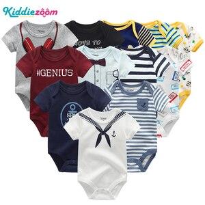 Image 1 - Pasgeboren baby Kleding Sets 100% Katoen Zomer baby rompertjes Korte mouw Bodysuit Babykleertjes Ropa bebe Baby Boy Kleding