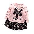 Elegant Children Kids Baby Girls Dress Cute Little Flers Tulle Bow Toddler Baby Girls Tutu Dresses One Piece Autumn Clothes2016
