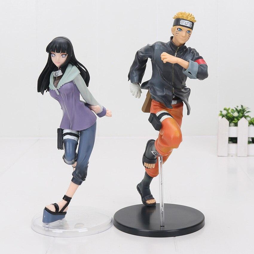 19-24cm Naruto Shippuden Uzumaki Naruto Hyuuga Hinata PVC Action Figure Toy Naruto Figure