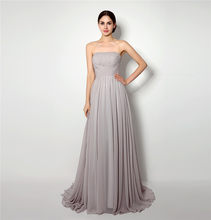 Real Photos Skin Pink Prom Dress Gorgeous A Line Lace Up Back Chiffon Long  Formal Party Gown Plus Size Surprise Price 297b9af073da