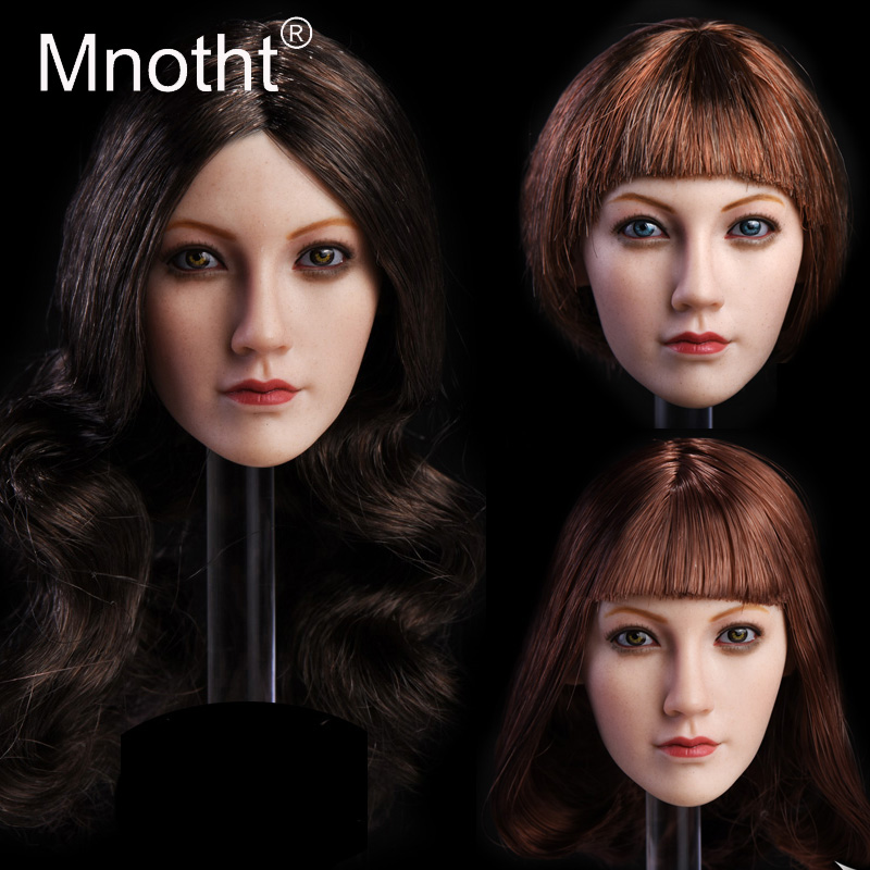 Mnotht Toys head sculpt 1/6 female action figures sexy Lin Head Carving Model Fit for PHICEN TBLeague Glue Body Model Hobbies m3 1 6 purple female sexy leather skirt dress suit clothing model toys for 12 female action figures body accessory