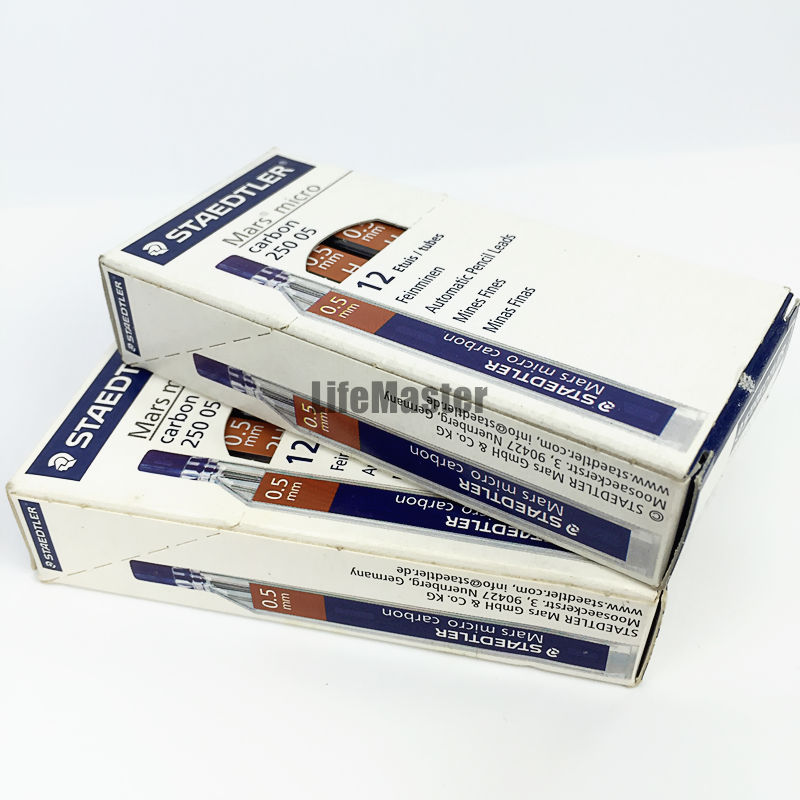 48 Leads 4 Tubes // Packs B STAEDTLER Mars micro carbon 250 0.5mm B Pencil lead refills