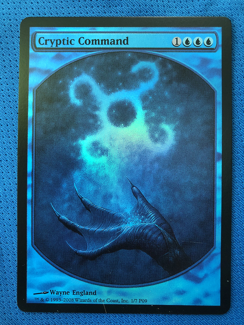 Cryptic Command Magic Player Rewards 2009 Foil Magician ProxyKing 8.0 VIP The Proxy Cards To Gathering Every Single Mg Card.