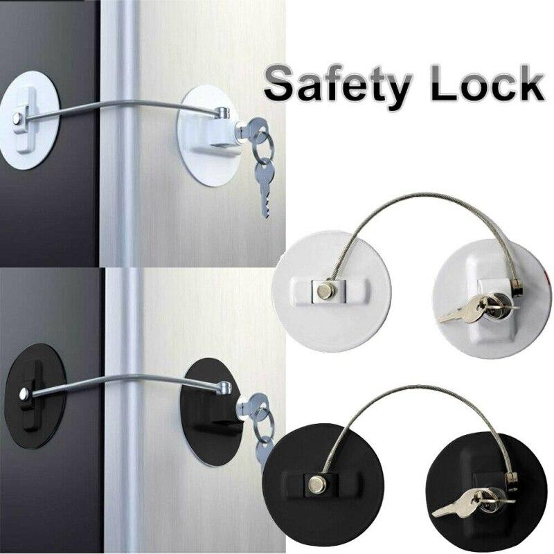 1Pcs Baby Safety Lock Stainless Steel Door Limit Lock For Drawer Children Window Refrigerator Security Lock Kids Safety Lock